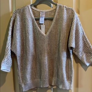 NWT Chico's gold pullover sweater size M
